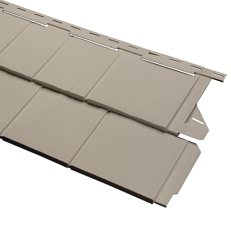 Georgia-Pacific Cedar Spectrum Vinyl Siding Panel Perfection Shake Clay 15.5-in x 54.625-in