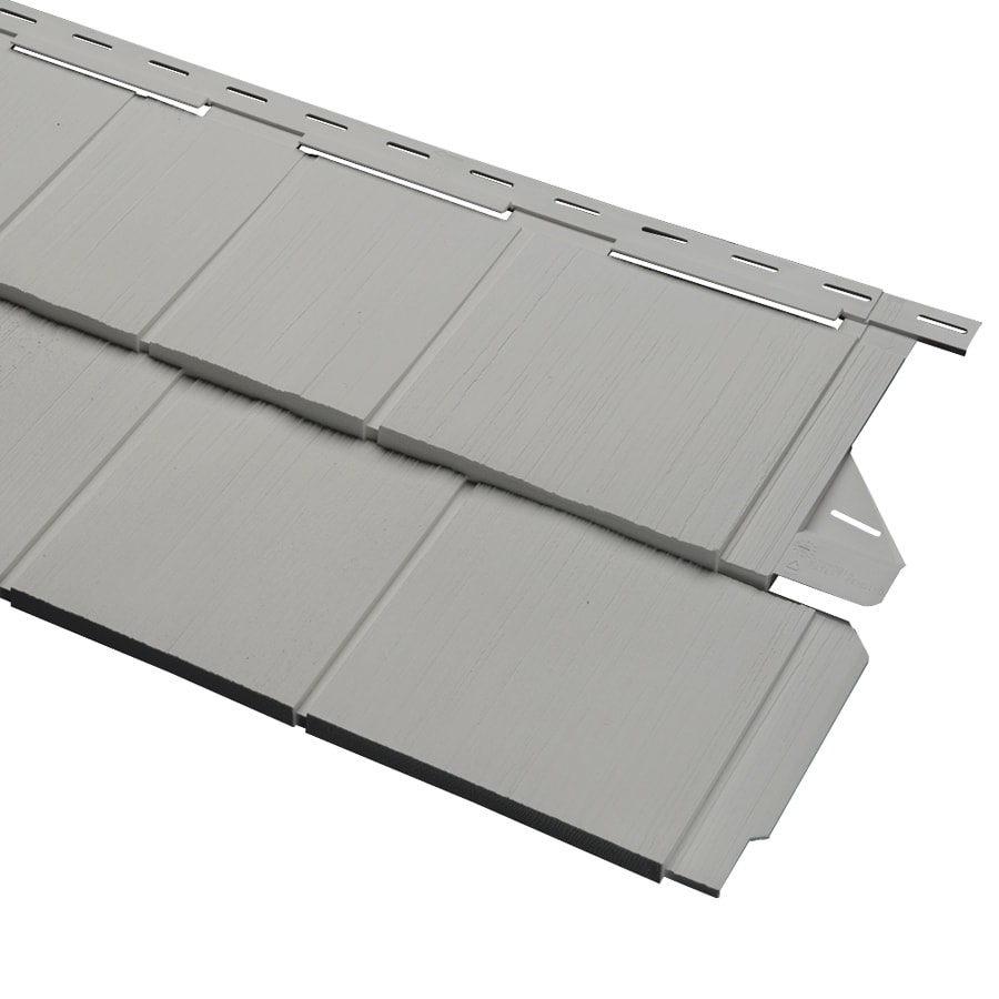 Georgia-Pacific Cedar Spectrum Vinyl Siding Panel Perfection Shake Pewter 15.5-in x 54.625-in