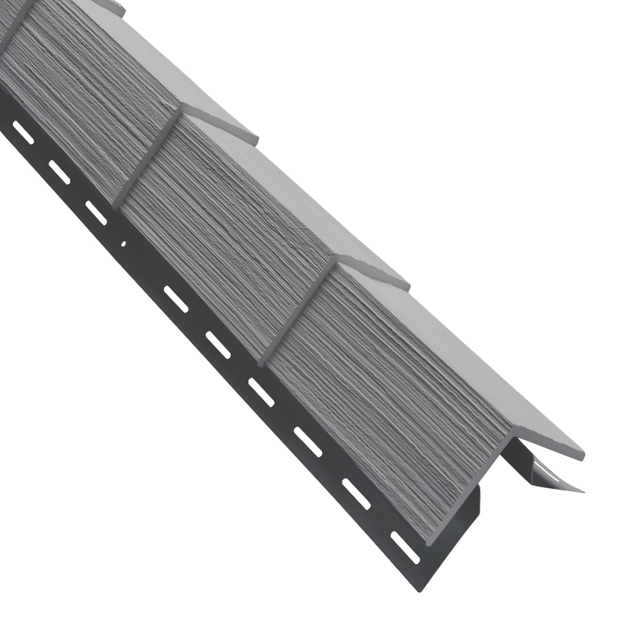 Georgia-Pacific 3.5-in x 29.125-in Pewter Outside Corner Post Vinyl Siding Trim
