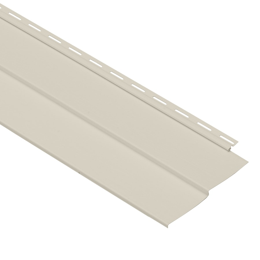 Georgia-Pacific Forest Ridge Double 4 Traditional Almond Vinyl Siding Panel 8-in x 150-in