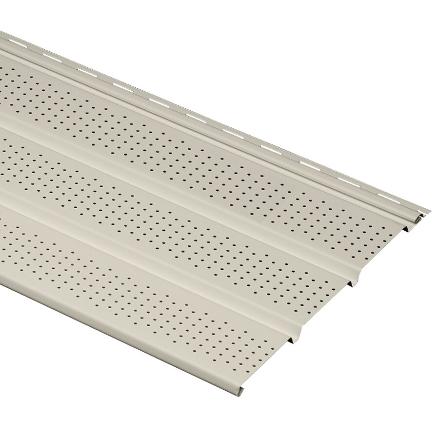 Georgia-Pacific 12-in x 144-in Almond/Pebble Vinyl Vented Soffit