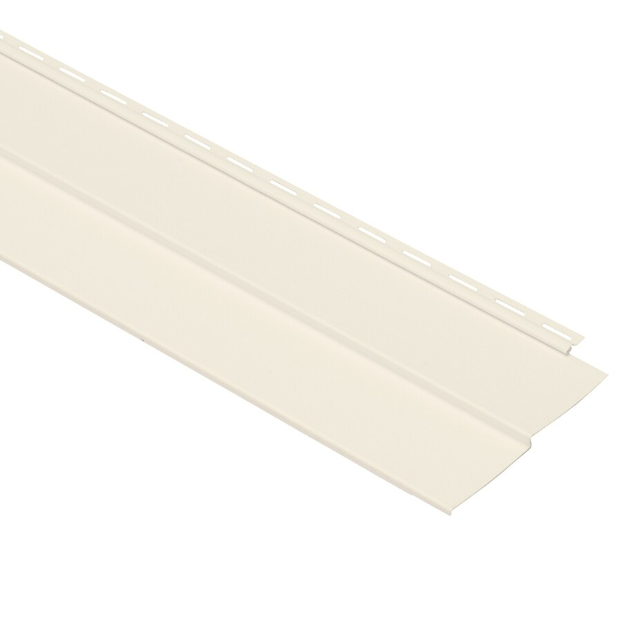 Georgia-Pacific Vision Pro Vinyl Siding Panel Double 4 Traditional Pearl 8-in x 150-in