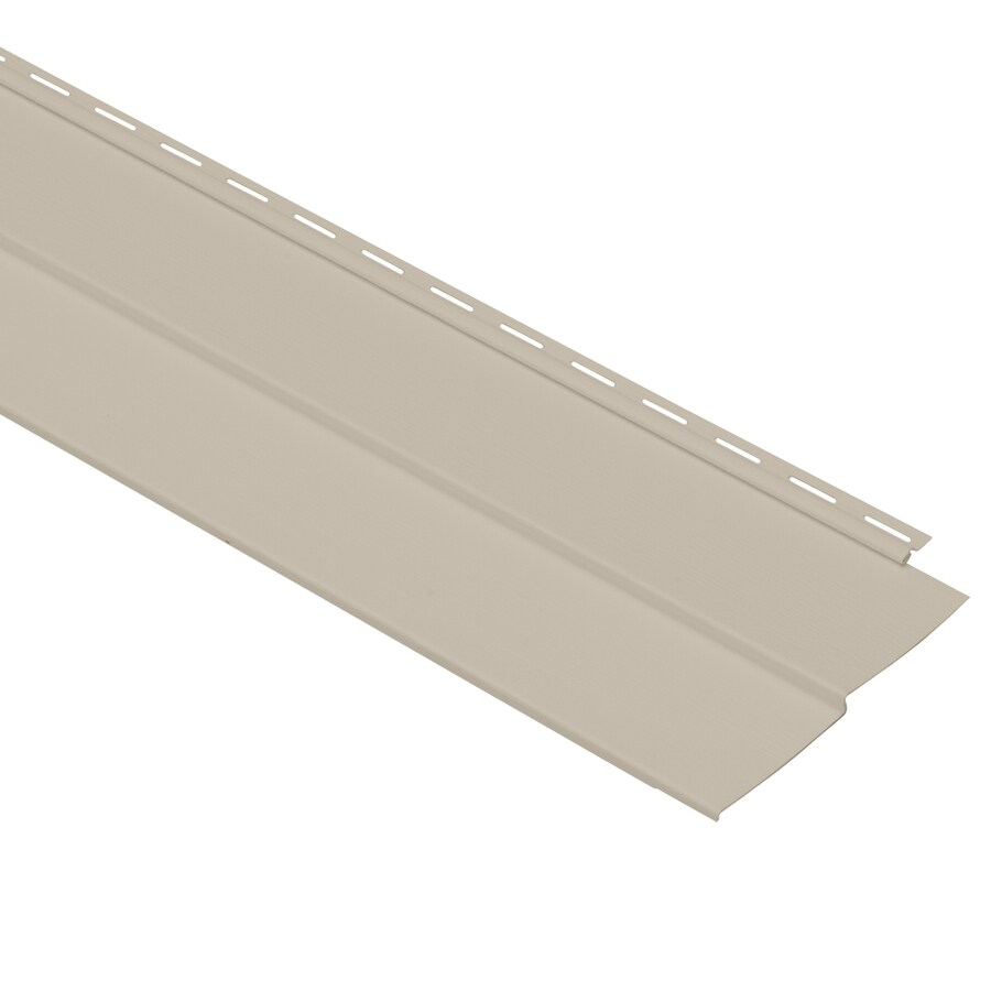 Georgia-Pacific Vision Pro Vinyl Siding Panel Double 4 Traditional Tan 8-in x 150-in