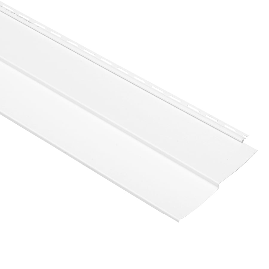 Georgia-Pacific Vision Pro Vinyl Siding Panel Double 5 Traditional White 10-in x 144-in