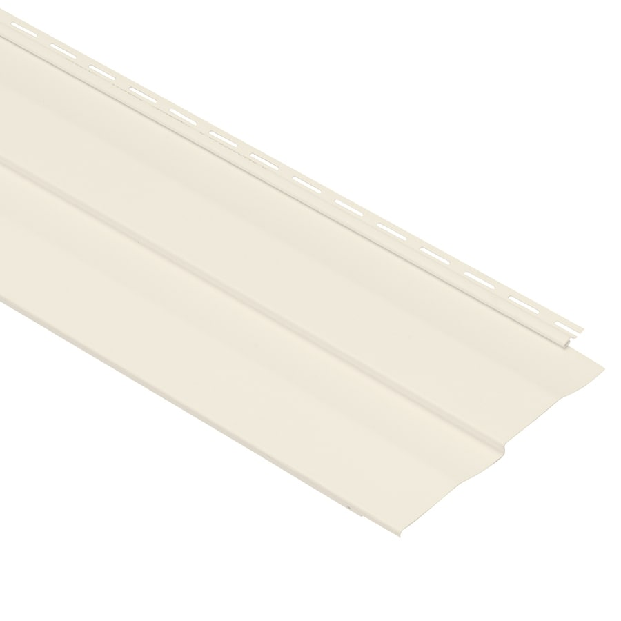 Georgia-Pacific Vision Pro Double 5 Dutch Lap Pearl Vinyl Siding Panel 10-in x 144-in