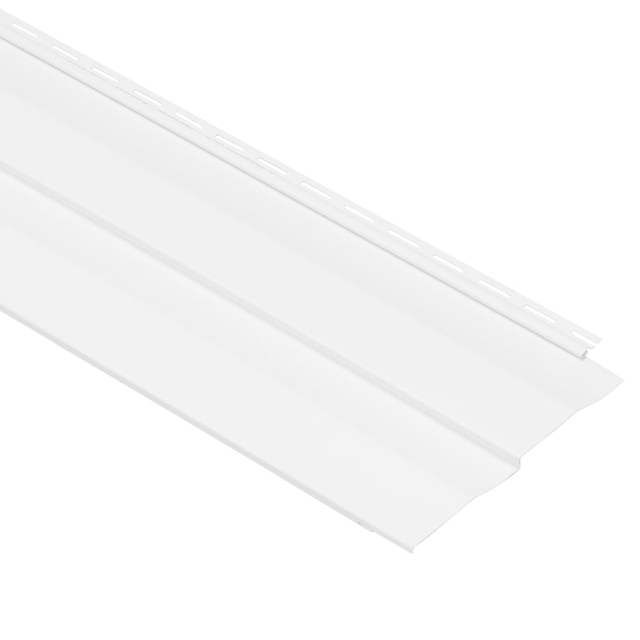 Georgia-Pacific Vision Pro Double 5 Dutch Lap White Vinyl Siding Panel 10-in x 144-in