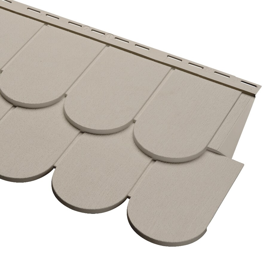 Georgia-Pacific Cedar Spectrum Scallop Clay Vinyl Siding Panel 16.375-in x 54.75-in