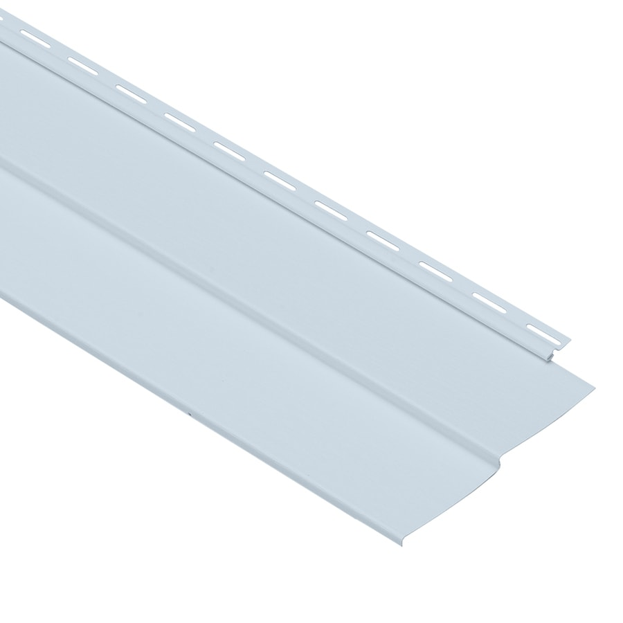 Georgia-Pacific Forest Ridge Double 4 Traditional Blue Vinyl Siding Panel 8-in x 150-in