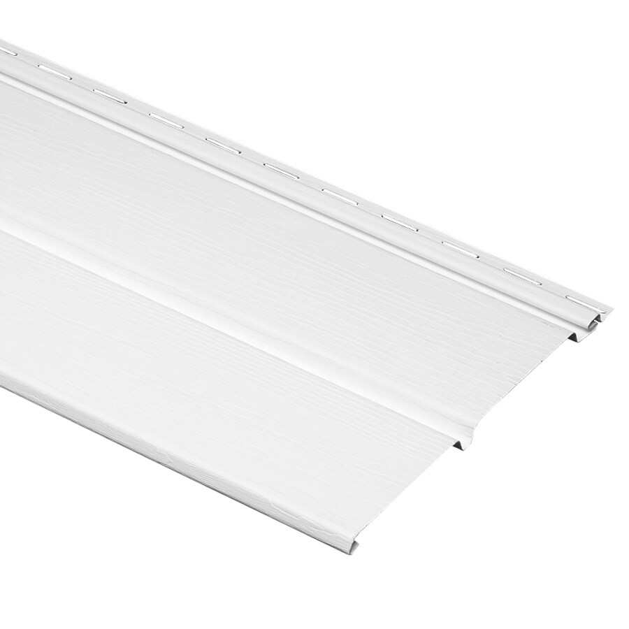 Georgia-Pacific 10-in x 144-in White/Wood Grain Vinyl Solid Soffit