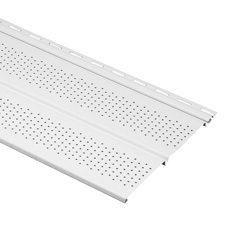 Georgia-Pacific 10-in x 144-in White/Wood Grain Soffit