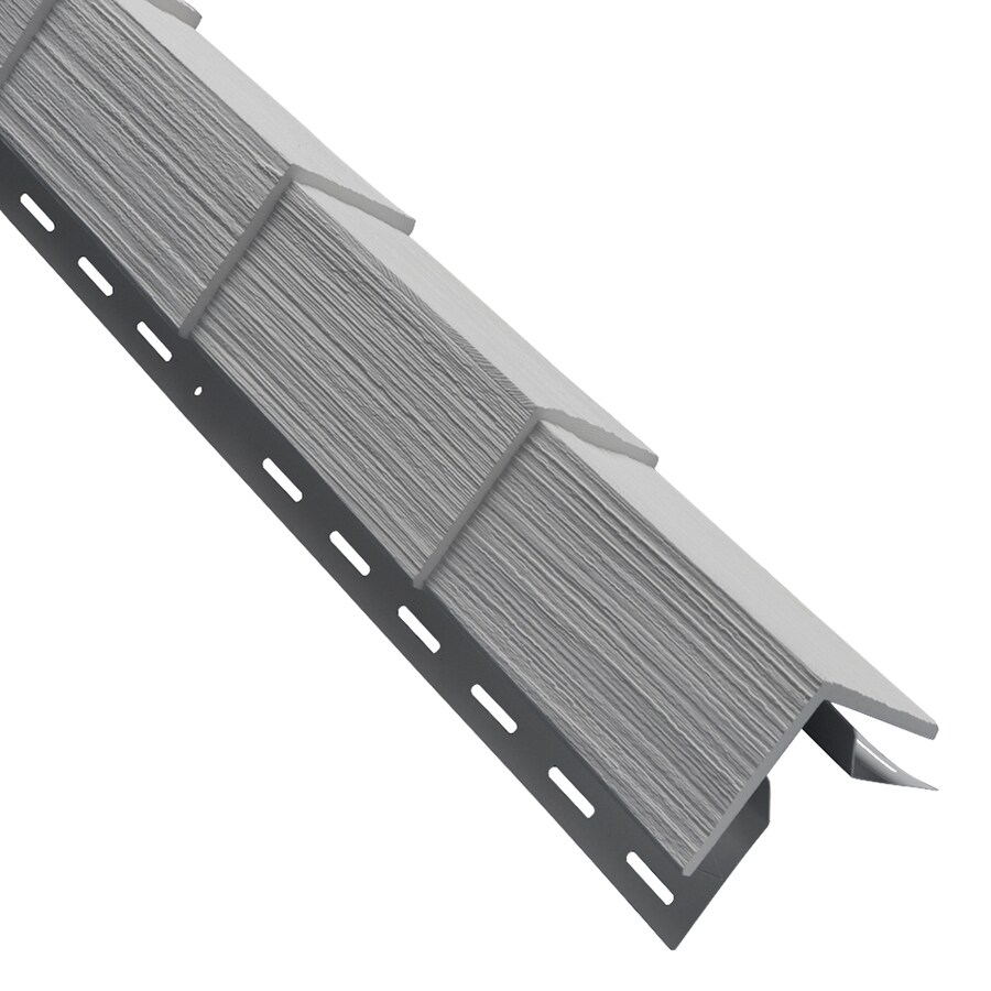 Georgia-Pacific 3.5-in x 29.125-in Gray Outside Corner Post Vinyl Siding Trim