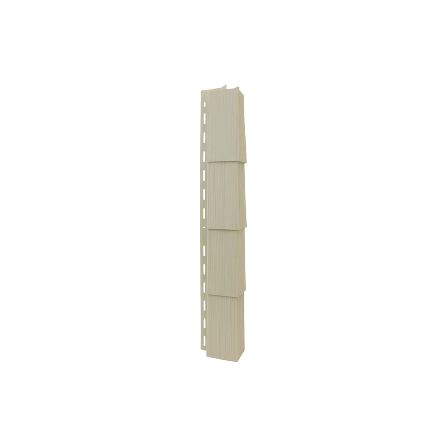 Georgia-Pacific 3.5-in x 29.125-in Shaded Cedar Outside Corner Post Vinyl Siding Trim