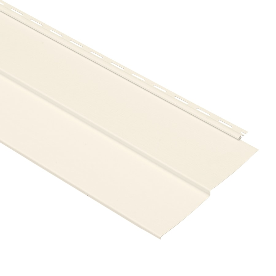 Georgia-Pacific Forest Ridge Vinyl Siding Panel Double 5 Traditional Pearl 10-in x 144-in