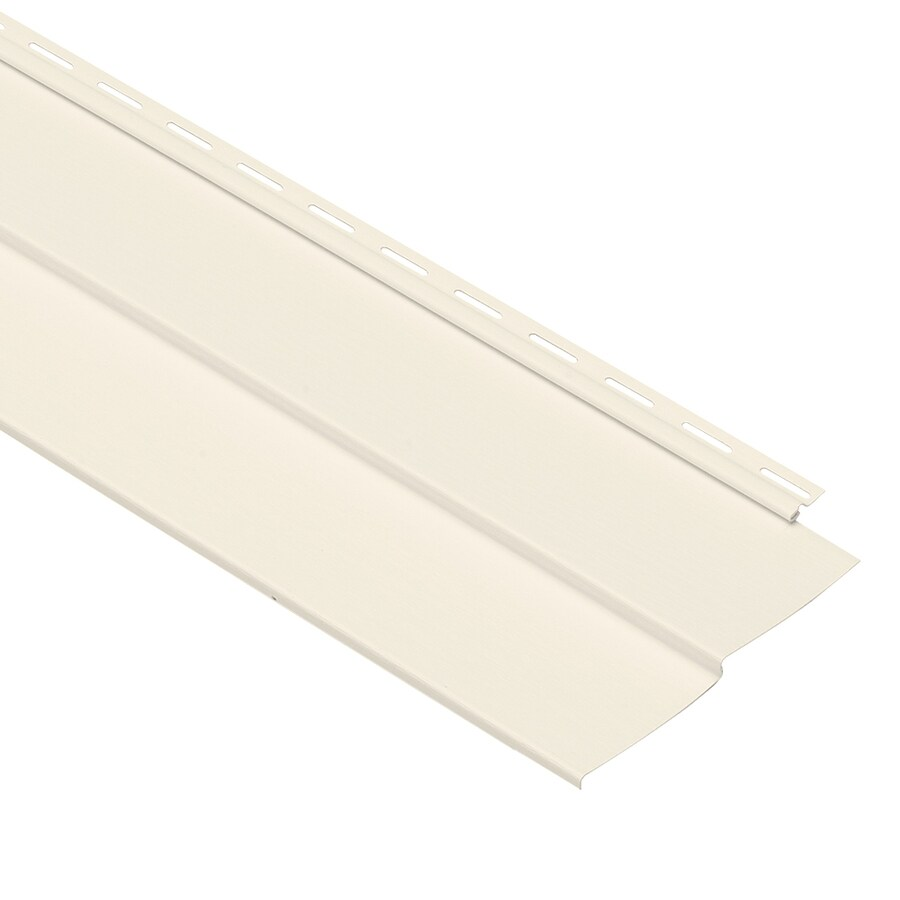 Georgia-Pacific Forest Ridge Vinyl Siding Panel Double 4 Traditional Pearl 8-in x 150-in