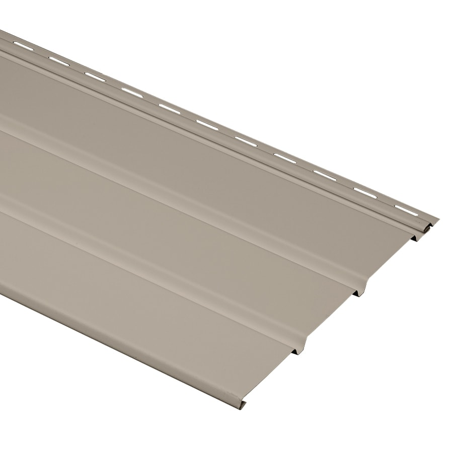 Georgia-Pacific 12-in x 144-in Clay/Pebble Vinyl Solid Soffit