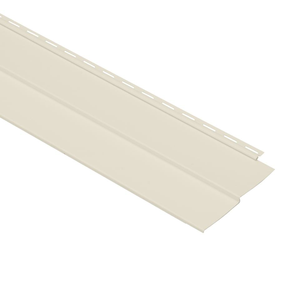 Georgia-Pacific Vision Pro Double 4 Traditional Cream Vinyl Siding Panel 8-in x 150-in