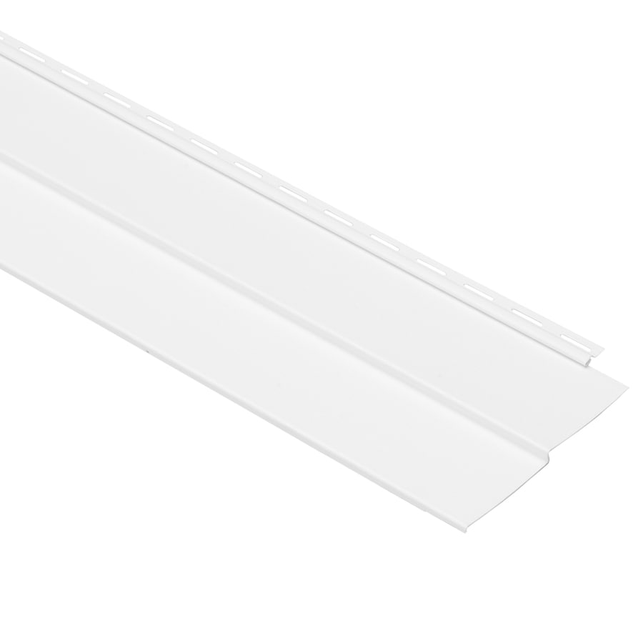 Georgia-Pacific Vision Pro Vinyl Siding Panel Double 4 Traditional White 8-in x 150-in