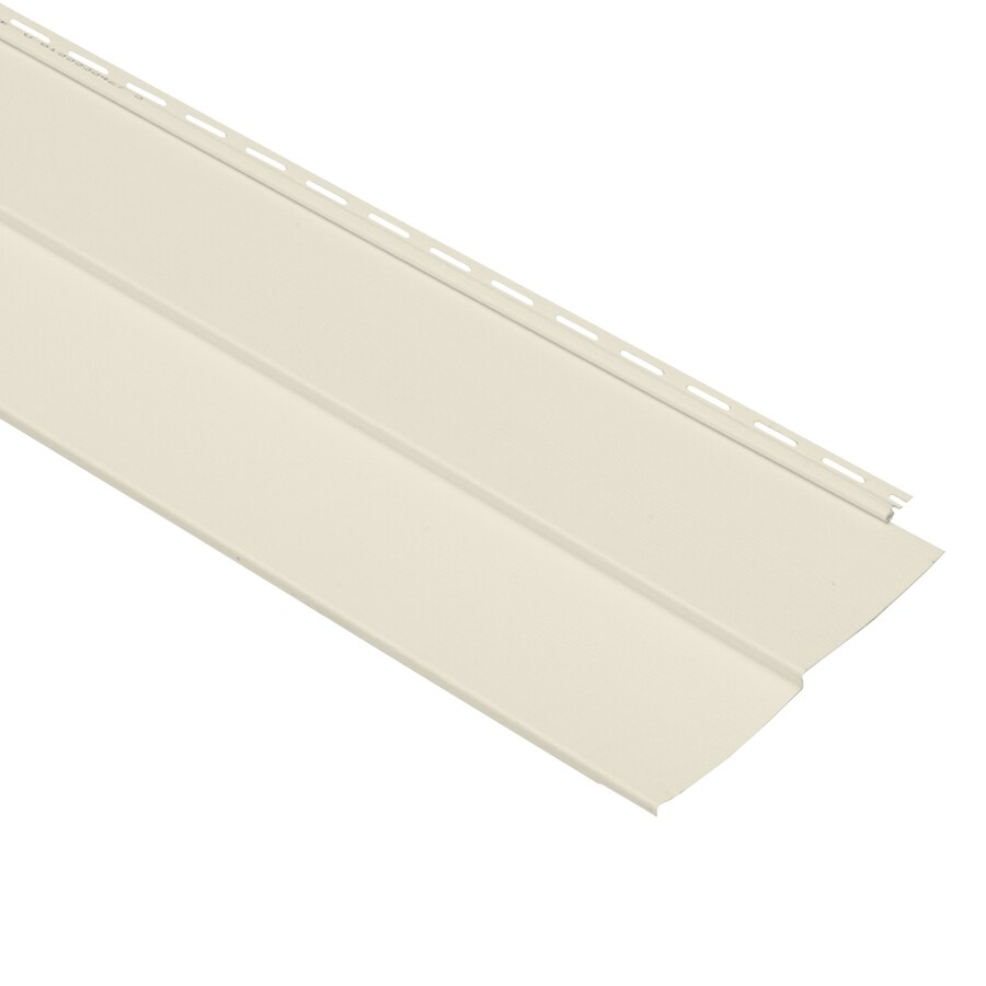 Georgia-Pacific Vision Pro Vinyl Siding Panel Double 5 Traditional Cream 10-in x 144-in