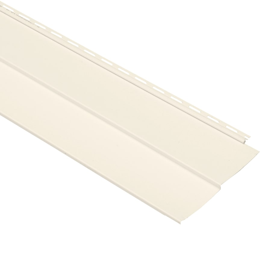 Georgia-Pacific Vision Pro Double 5 Traditional Pearl Vinyl Siding Panel 10-in x 144-in