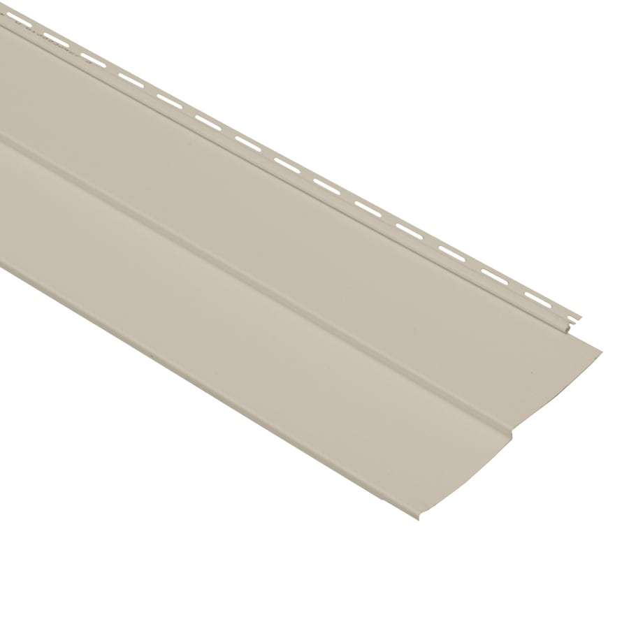 Georgia-Pacific Vision Pro Vinyl Siding Panel Double 5 Traditional Tan 10-in x 144-in