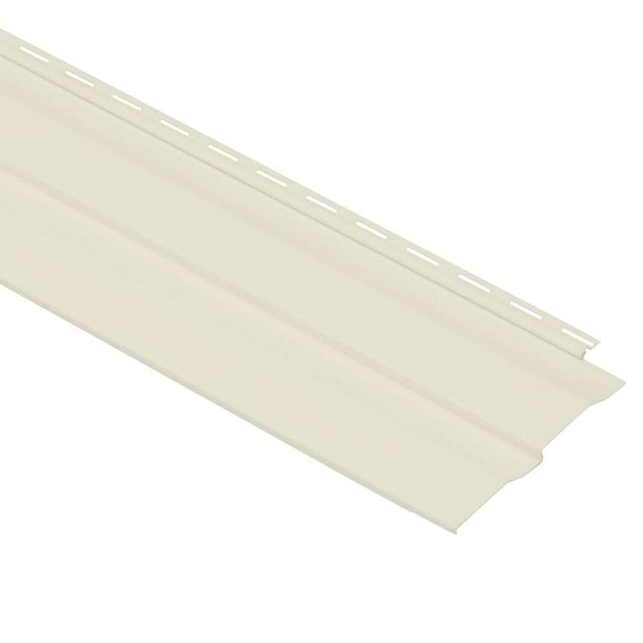 Georgia-Pacific Vision Pro Double 4 Dutch Lap Cream Vinyl Siding Panel 8-in x 150-in