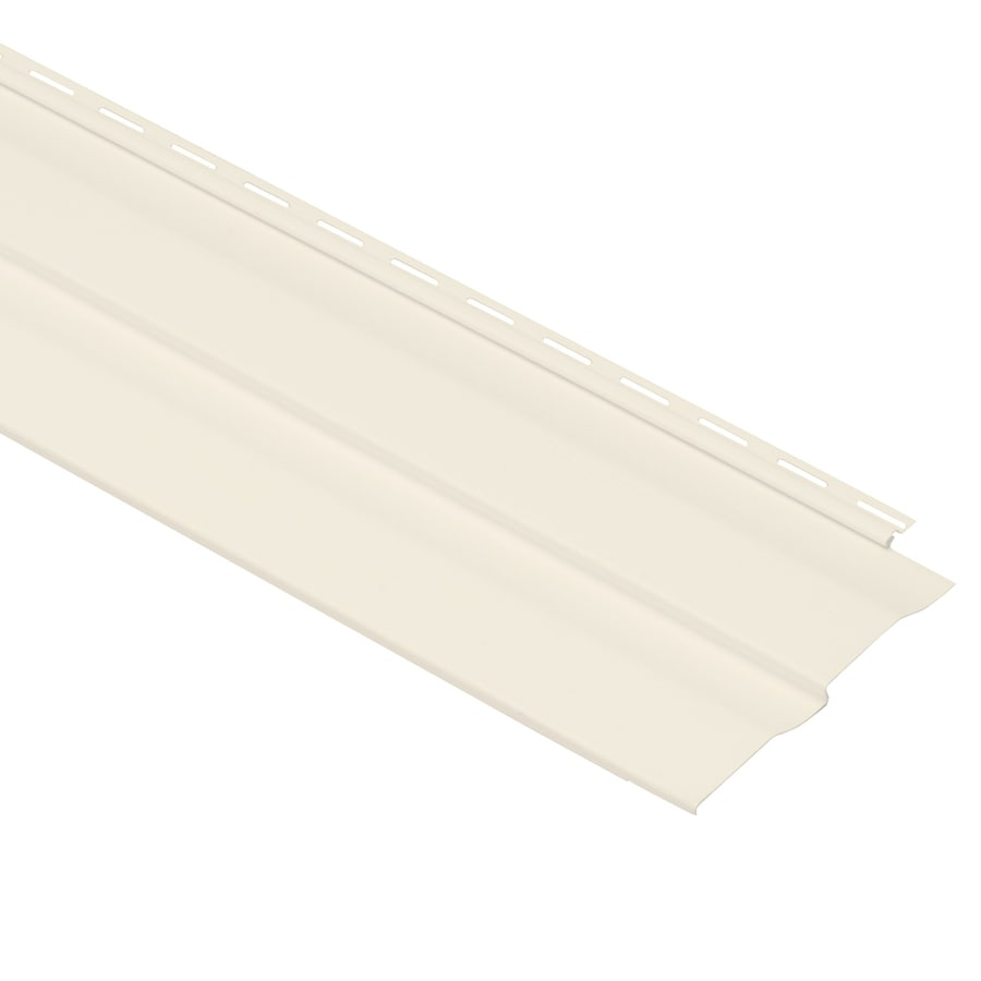Georgia-Pacific Vision Pro Vinyl Siding Panel Double 4 Dutch Lap Pearl 8-in x 150-in