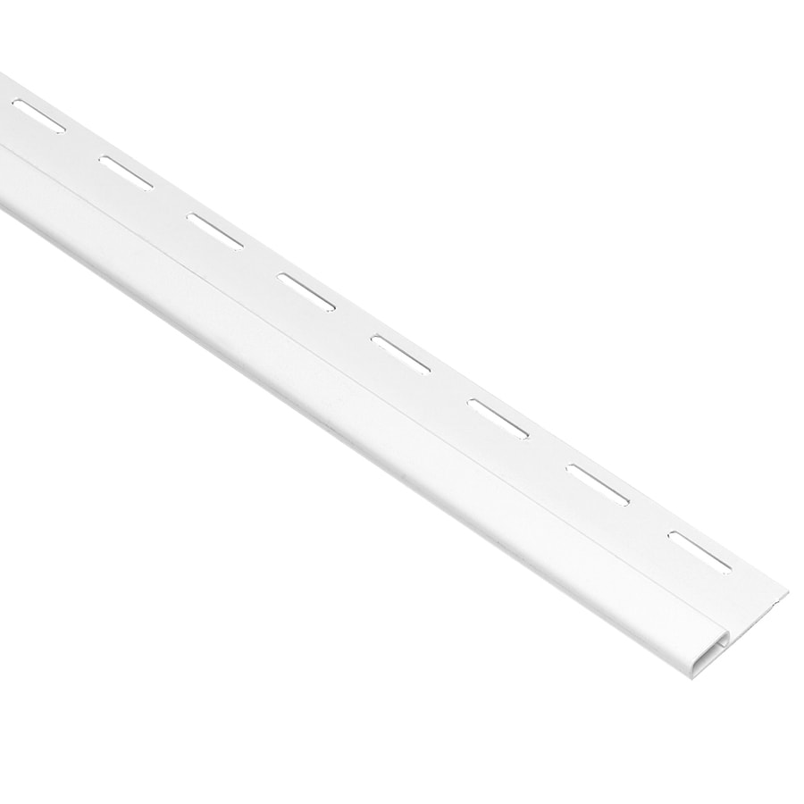 Georgia-Pacific 0.375-in x 150-in White Undersill Vinyl Siding Trim