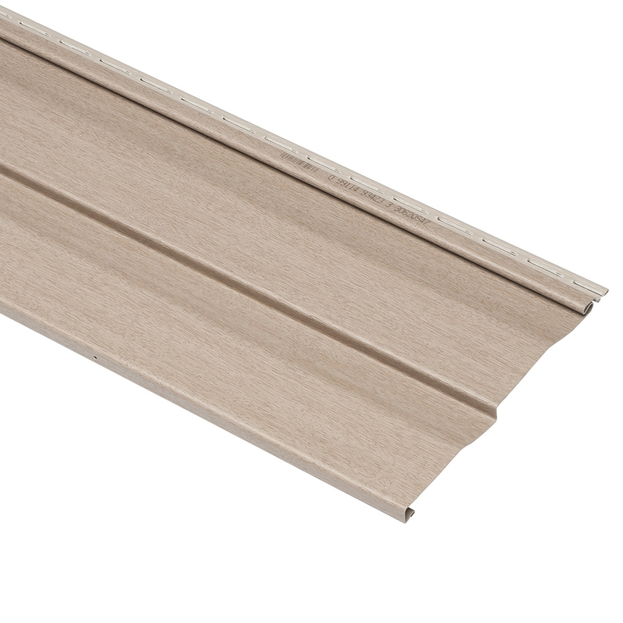 Georgia-Pacific Compass Double 4.5 Dutch Lap Northern Oak Vinyl Siding Panel 9-in x 145-in