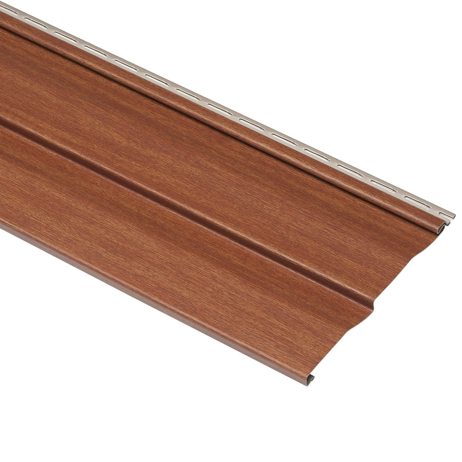 Shop georgia pacific compass vinyl siding panel double 4 5 for Wood grain siding panels