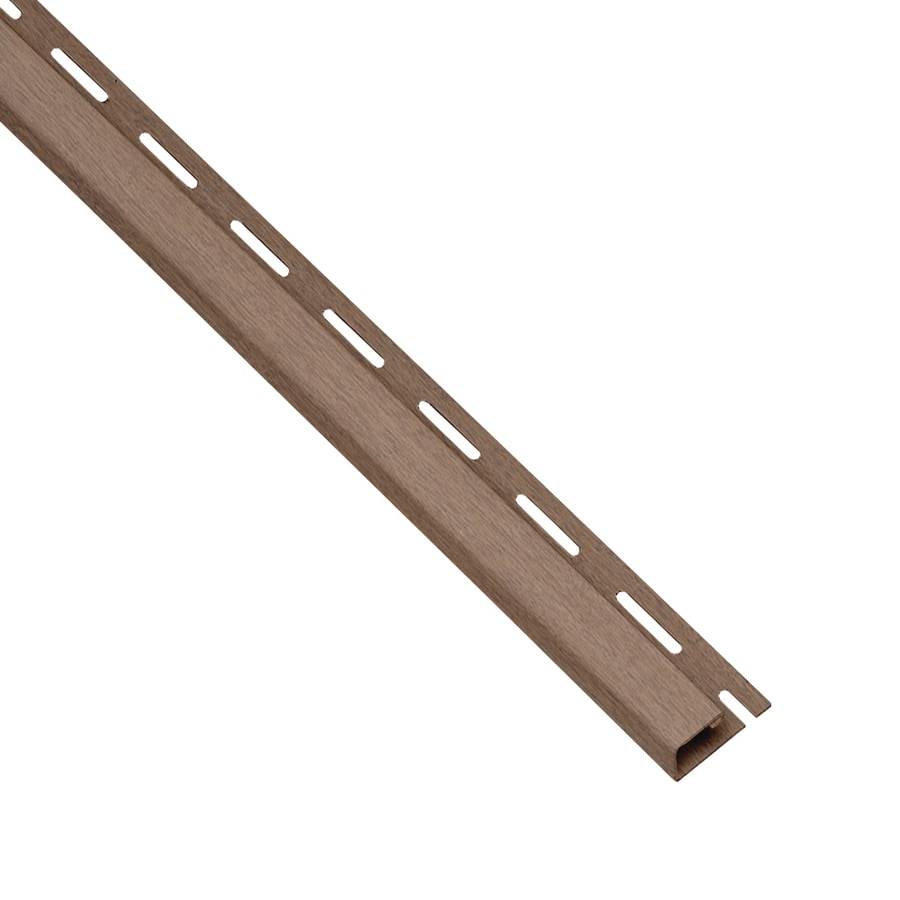 Georgia-Pacific 0.625-in x 150-in Hearthstone Brown J-Channel Vinyl Siding Trim