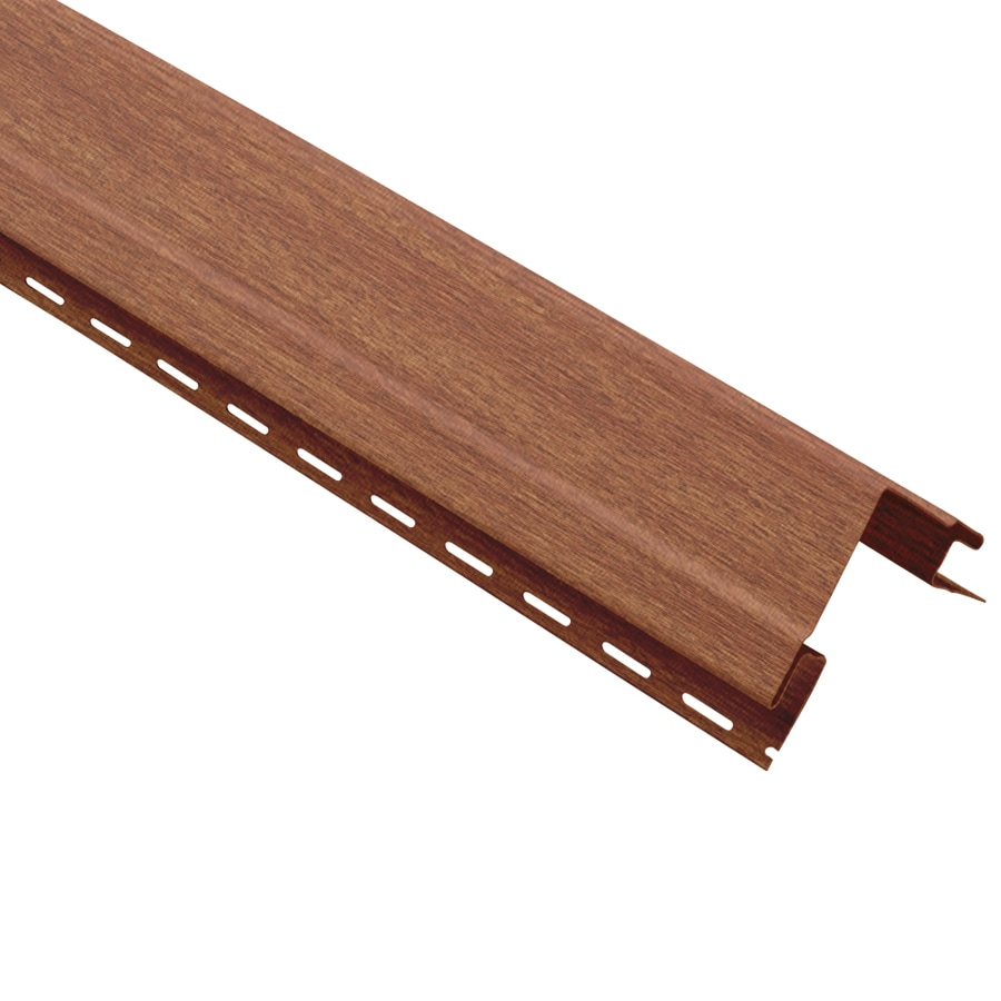 Georgia-Pacific 4-in x 120-in Redwood Outside Corner Post Vinyl Siding Trim