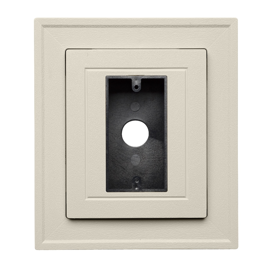 Georgia-Pacific 8.5-in x 7.5-in Almond Vinyl Universal Mounting Block