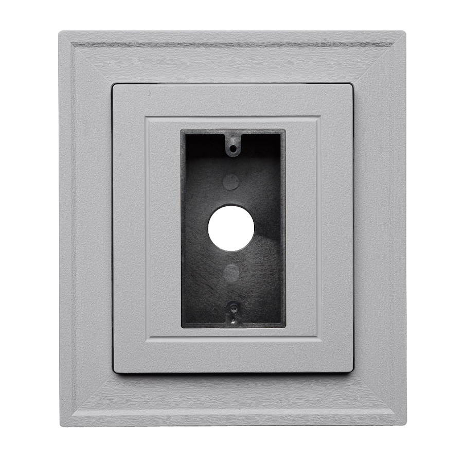 Georgia-Pacific 8.5-in x 7.5-in Flint Vinyl Electrical Mounting Block