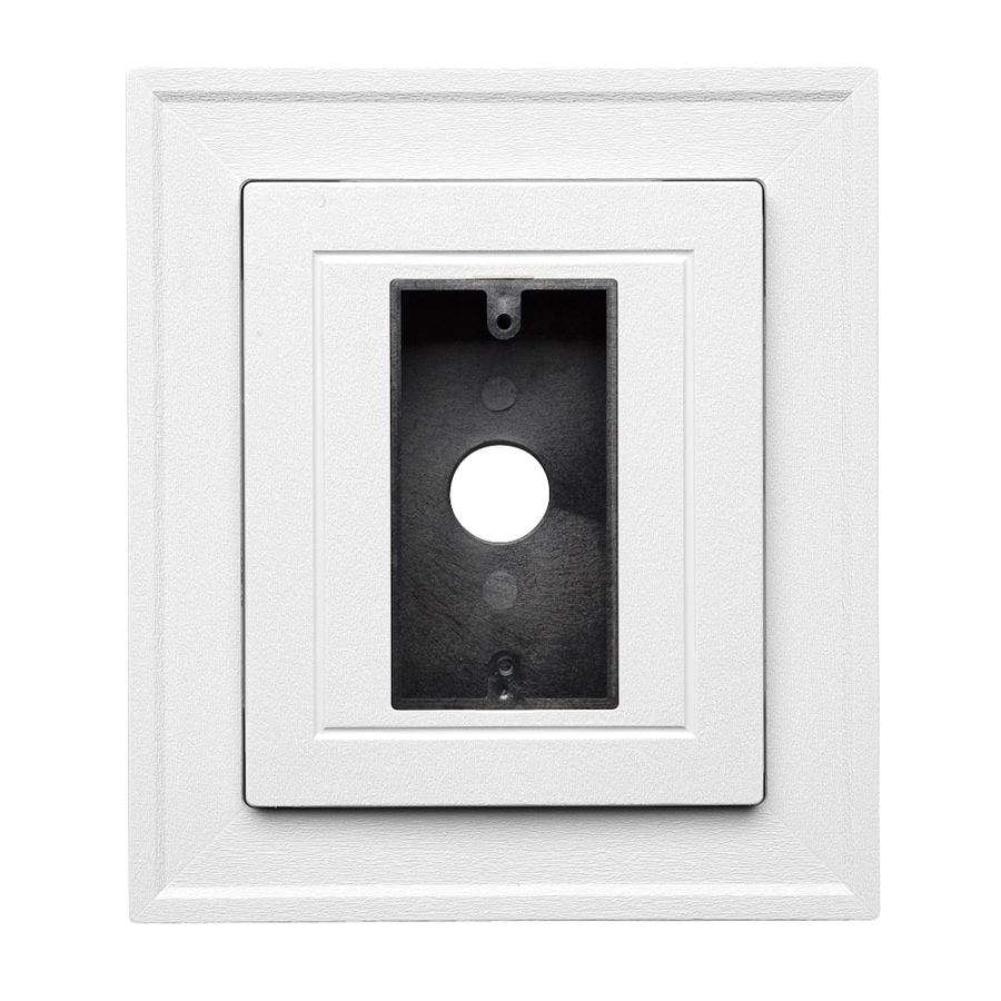 Georgia-Pacific 8.5-in x 7.5-in White Vinyl Universal Mounting Block