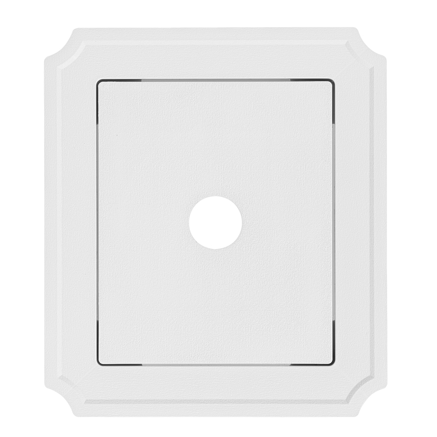 Georgia-Pacific 8.54-in x 7.52-in White Vinyl Universal Mounting Block