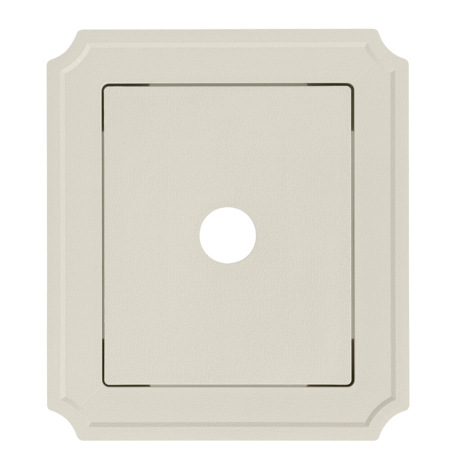 Georgia-Pacific 8.54-in x 7.52-in Pearl Vinyl Universal Mounting Block