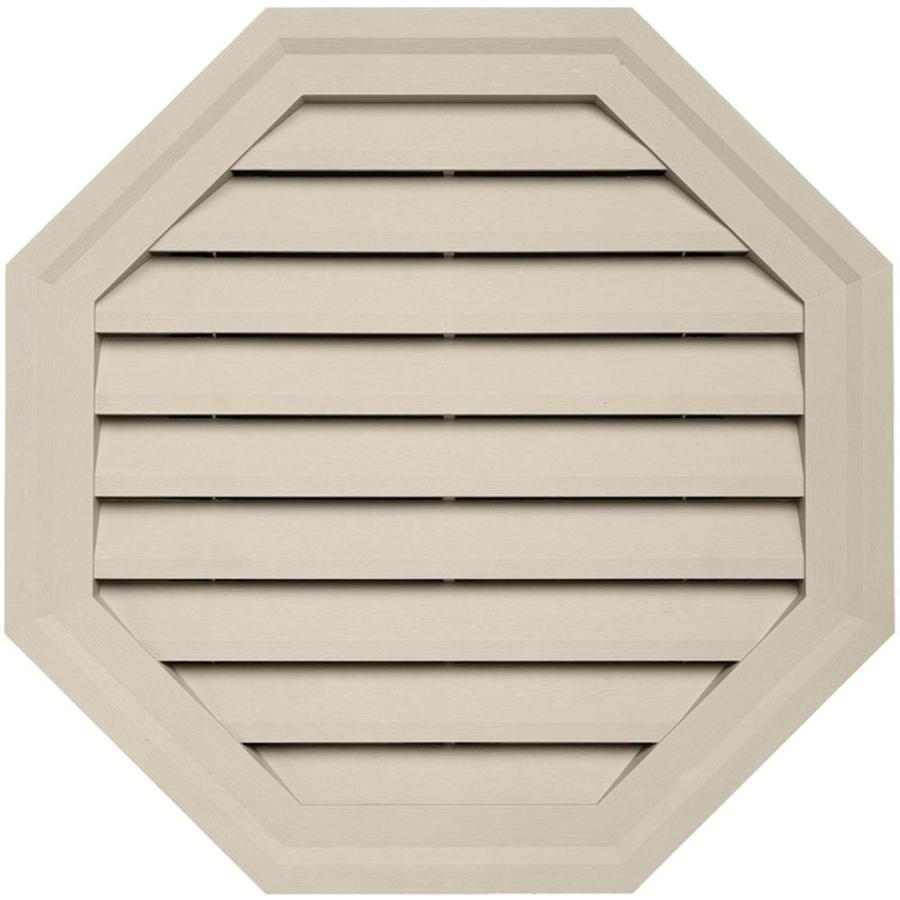 Shop 18 In X 18 In Tan Octagon Vinyl Gable Vent At Lowes Com