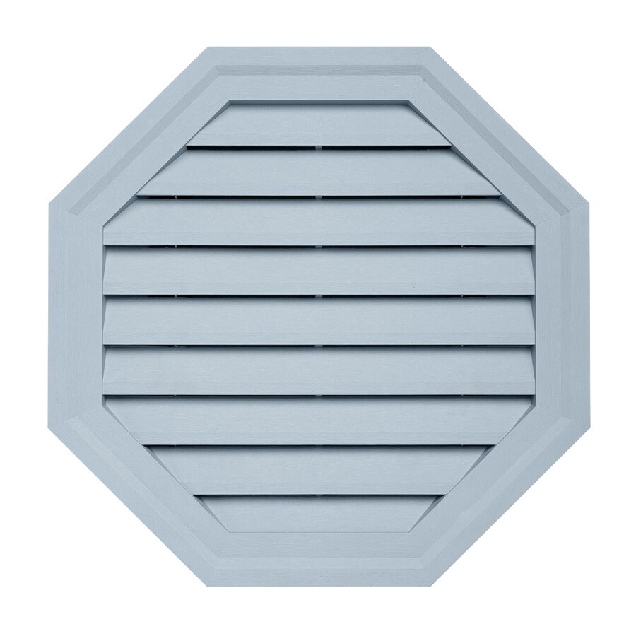 18-in x 18-in Blue Octagon Vinyl Gable Vent