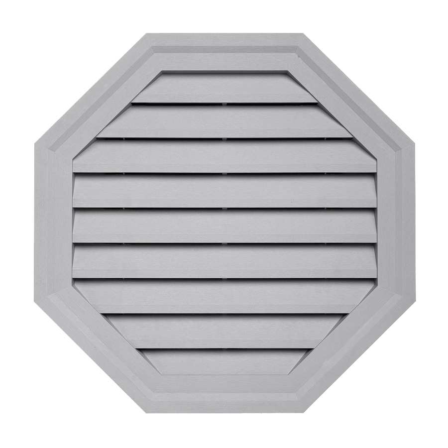 Georgia-Pacific 18-in x 18-in Flint Octagon Vinyl Gable Vent