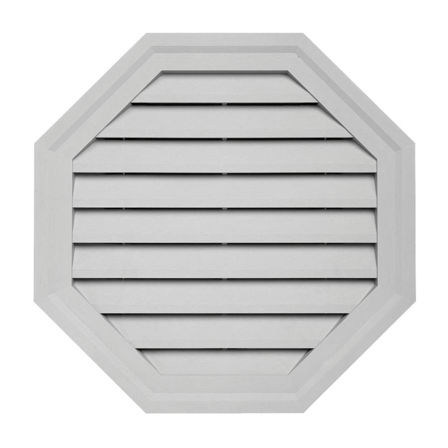 Shop 18 In X 18 In Gray Octagon Vinyl Gable Vent At Lowes Com