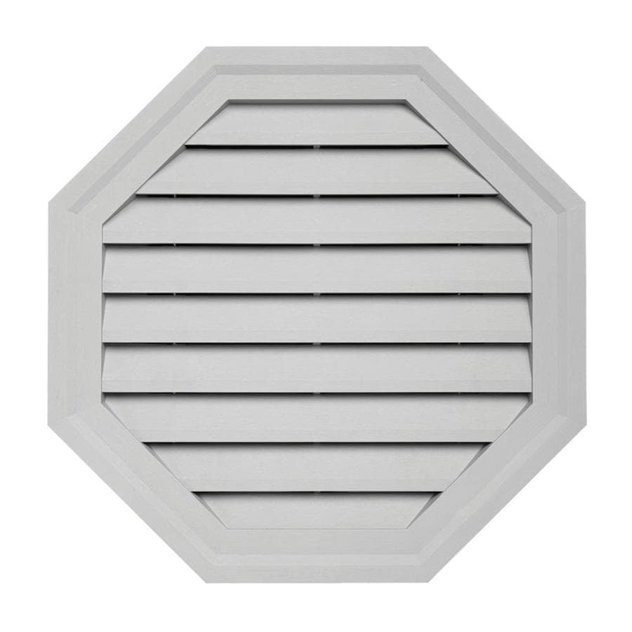 10-in x 12.5-in Gray Octagon Vinyl Gable Vent