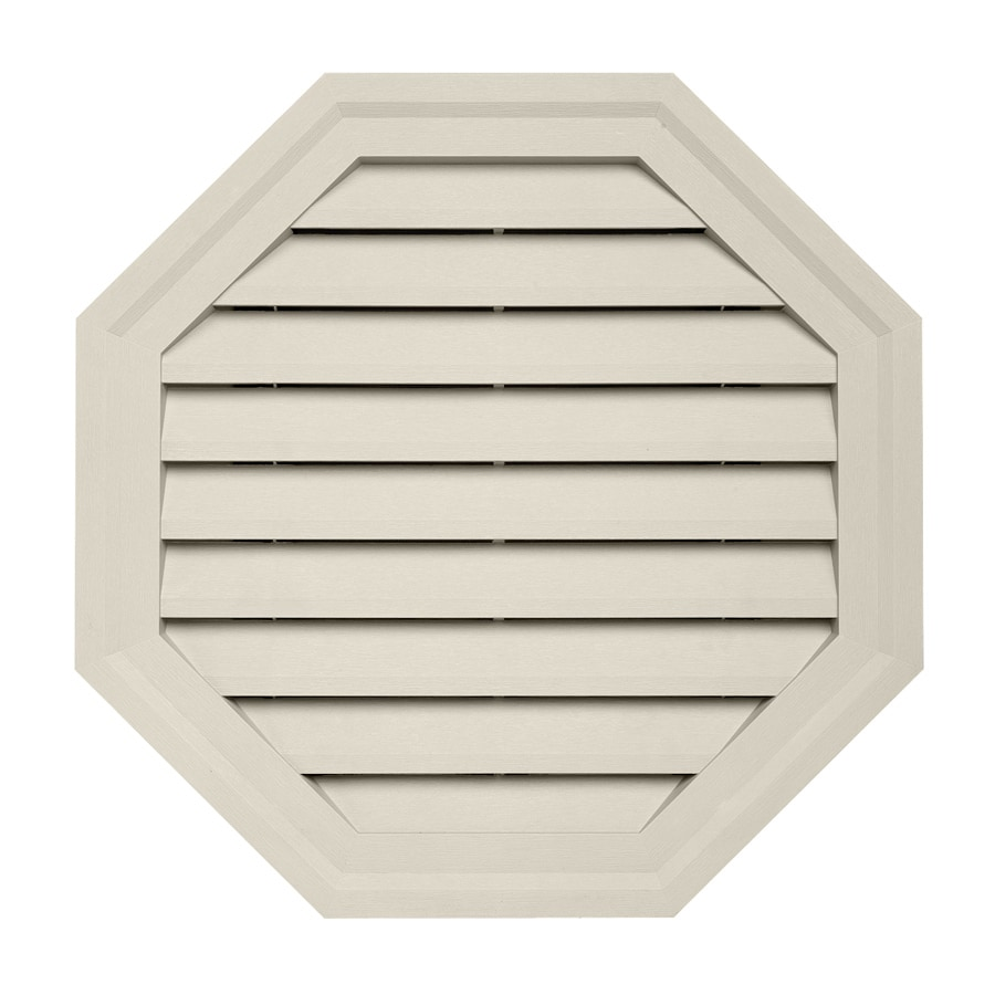 18-in x 18-in Almond Octagon Vinyl Gable Vent