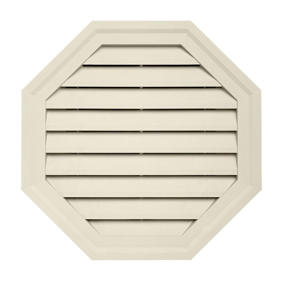 18-in x 18-in Cream Octagon Vinyl Gable Vent