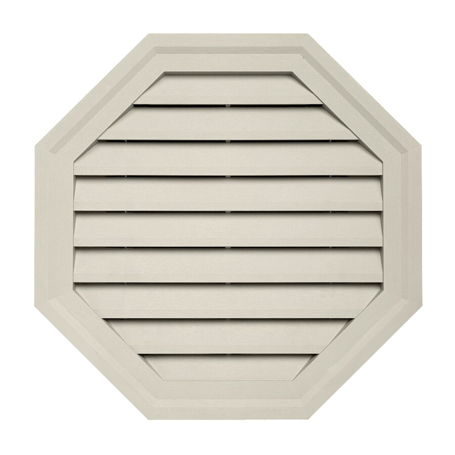 10-in x 12.5-in Pearl Octagon Vinyl Gable Vent