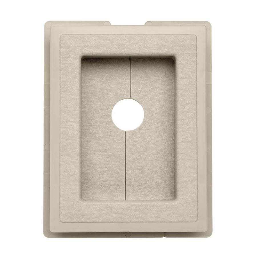 7.5-in x 1-in Tan Vinyl Universal Mounting Block