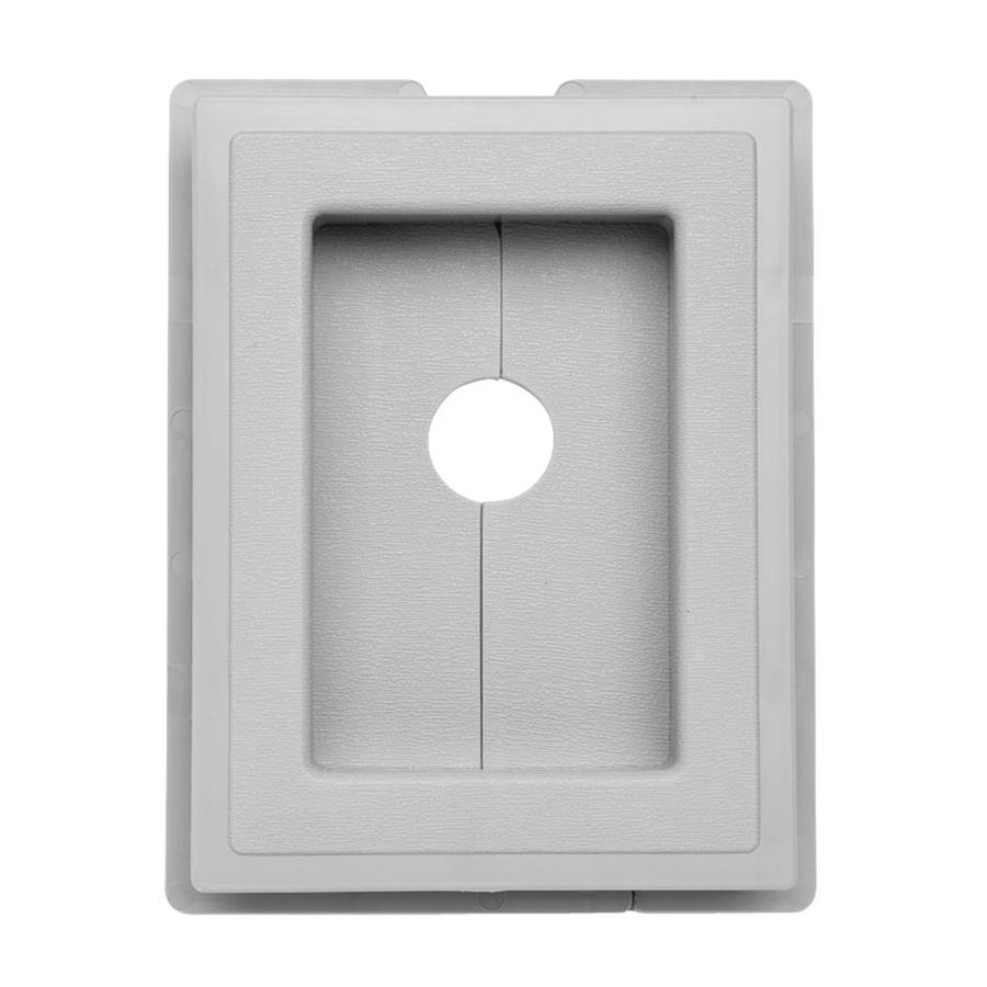 7.5-in x 1-in Gray Vinyl Universal Mounting Block