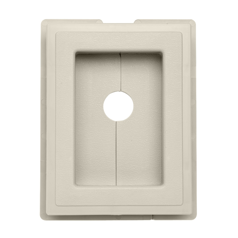 Georgia-Pacific 7.5-in x 1-in Almond Vinyl Universal Mounting Block