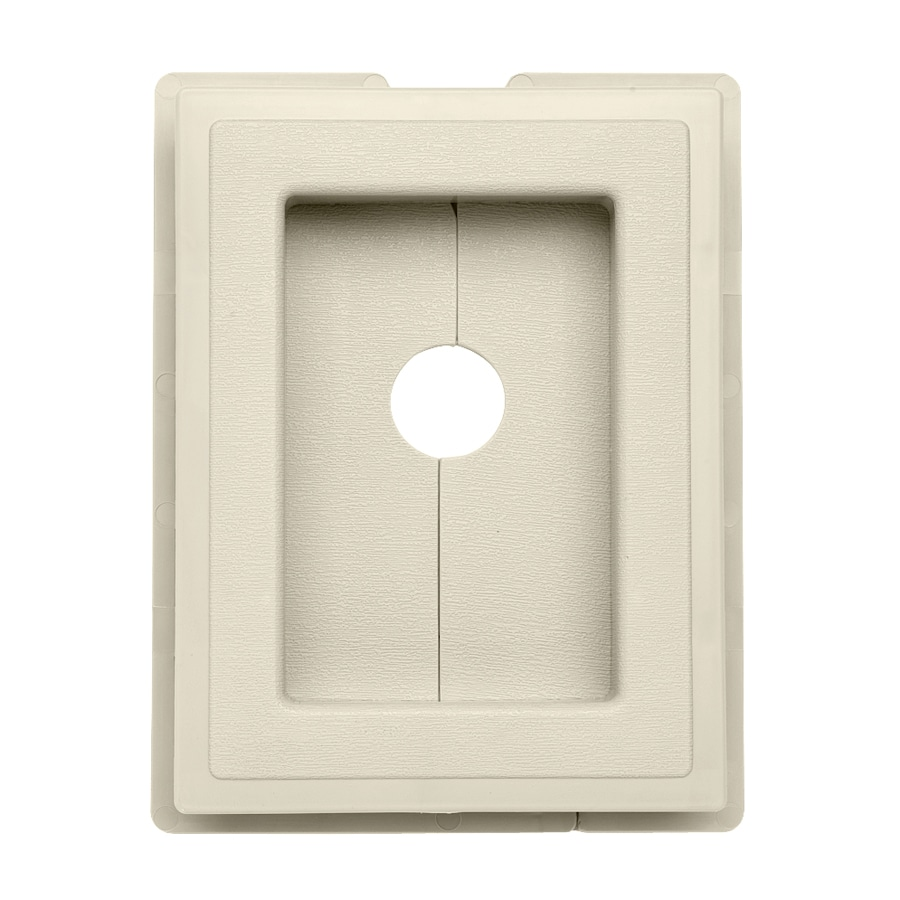 7.5-in x 1-in Cream Vinyl Universal Mounting Block