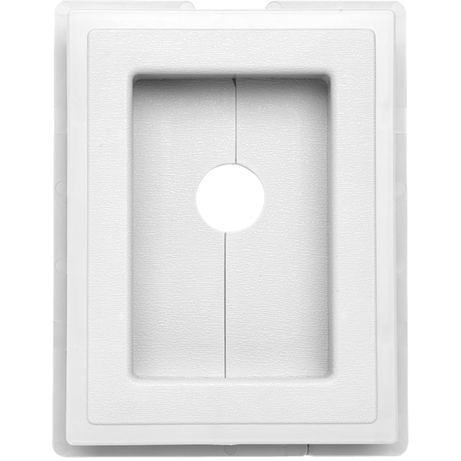 7.5-in x 1-in White Vinyl Universal Mounting Block