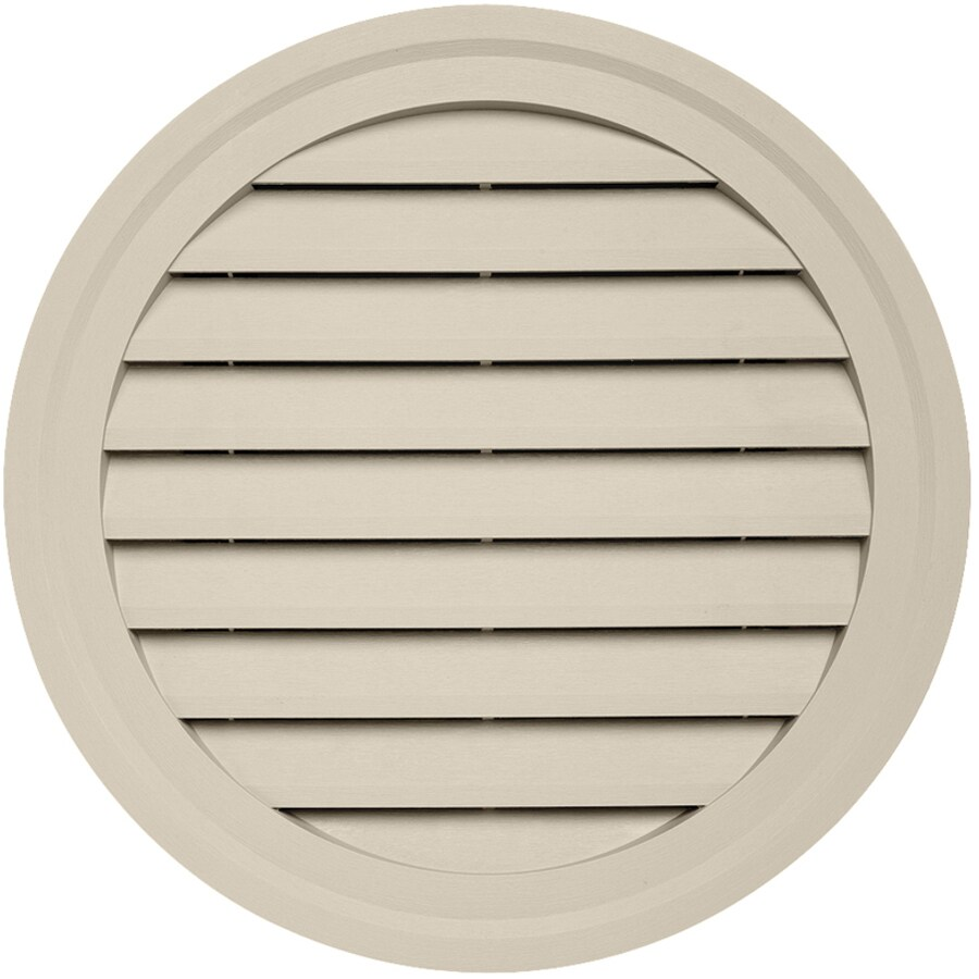 22-in x 2.5-in Tan Round Vinyl Gable Vent